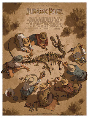 Jurassic Park Movie Poster Screen Print by Claire Hummel x Mondo