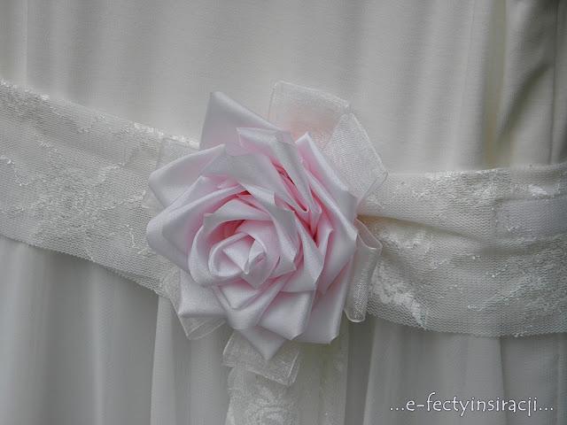 e-fectyinspiracji sukienka dla małej księżniczki, szyfon, koronki, brosza jak zrobić różę