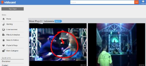 Screenshot Beranda Situs vIdeomt - Dipopedia