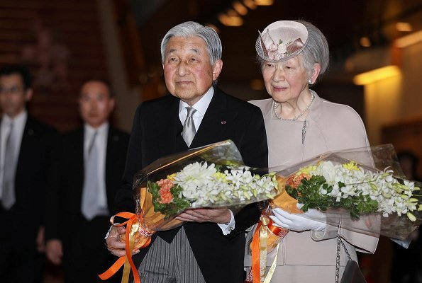 Empress Michiko, Crown Prince Naruhito, Crown Princess Masako, Prince Fumihito and Princess Kiko