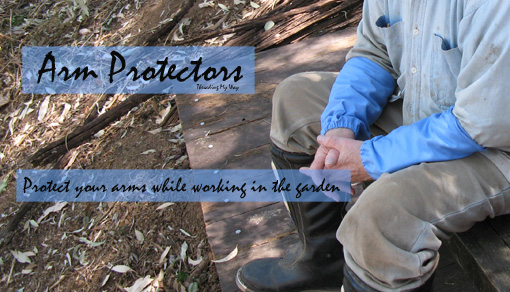 Protect your arms while working in the garden ~ Threading My Way