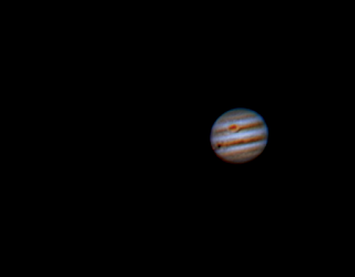 Jupiter 2-26-16 Europa, Io Transit and Great Red Spot