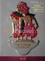 Souvenir Gantungan Kunci berbahan baku Kulit dengan gambar wayang rama dan sinta