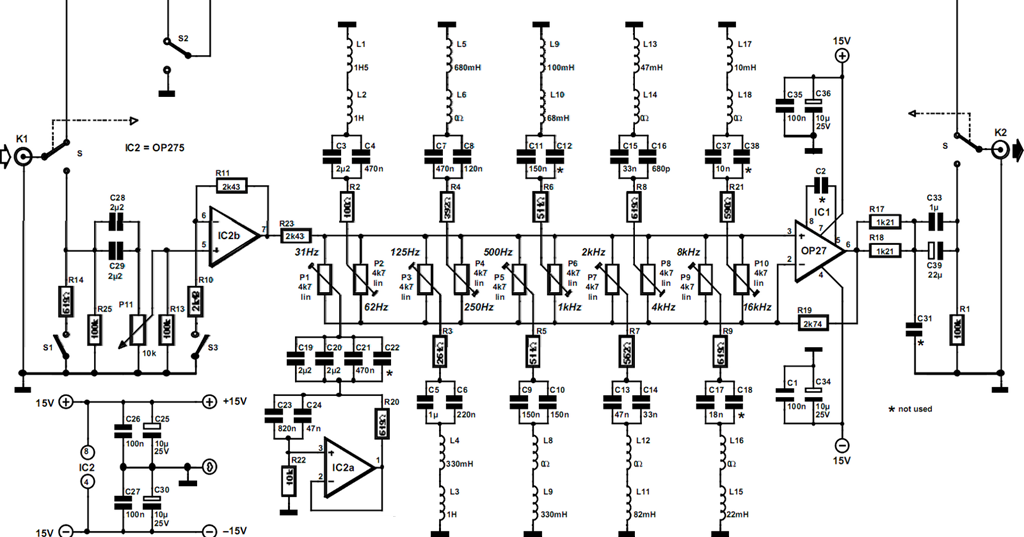 10 Band Equalizer Circuits Projects
