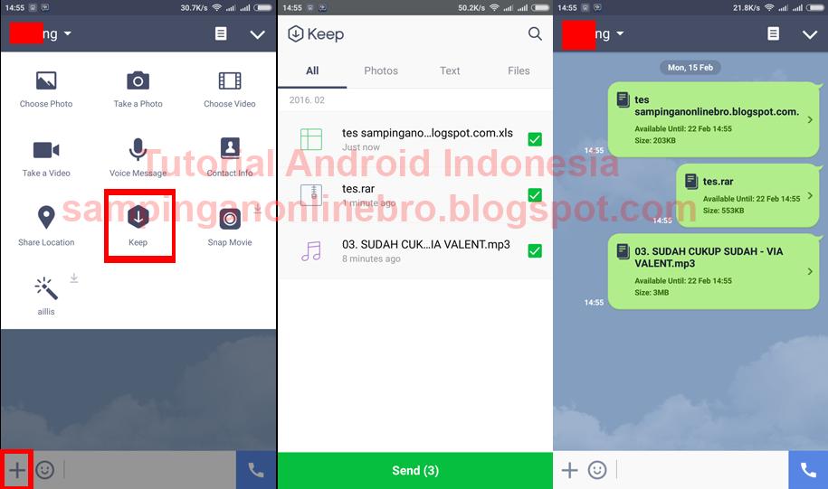 Cara Mengirim File Di LINE Messenger Terbaru Dengan Mudah