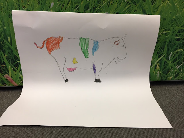 Drawing of a cow