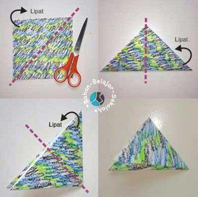 Cara Membuat Origami Burung Dari Kertas Bekas