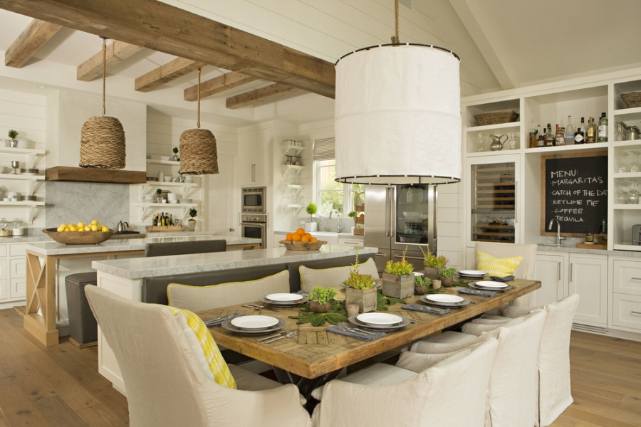 All Natural Wood Kitchen Table Light Oka