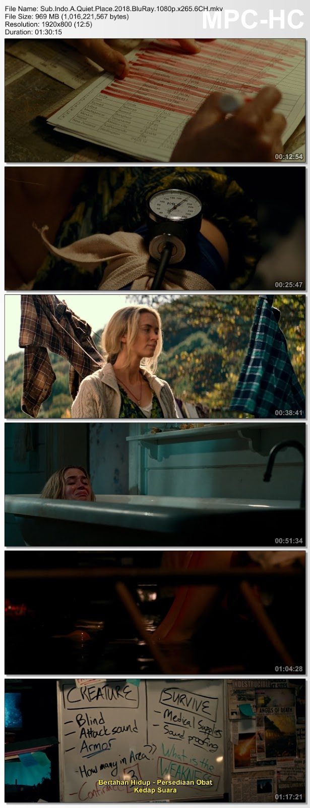 Screenshots Download Film Gratis A Quiet Place (2018) BluRay 480p MP4 Subtitle Bahasa Indonesia 3GP
