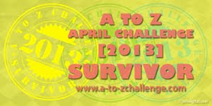 A to Z Challenge Survivor