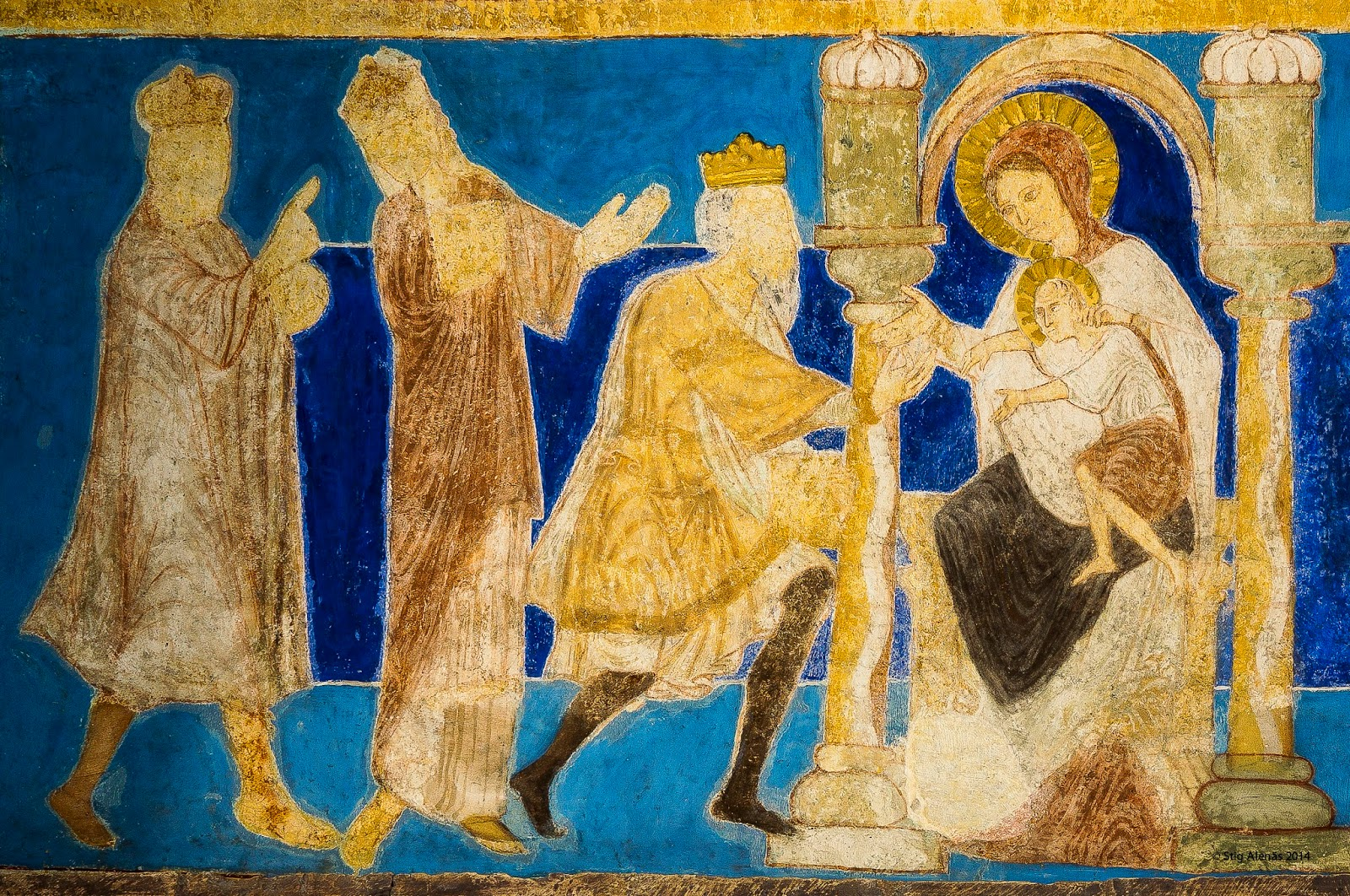 medieval, gaspar, epiphany, mural, wise, nativity, kings, worship, myrrh, christmas, editorial, sweden, three, church, wall, bible, men, gold, melchior, painting, ultramarine, fresco, denmark, holy, religion, byzantine, gifts, gothic, romanesque, wall painting, lapis lazuli, wi semen, wall-painting, balthasar, bjaresjo, https://www.shutterstock.com/image-photo/romanesque-fresco-holy-kings-bring-their-531577681