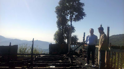 Sabhasad Ratan Thapa visits Rangu Ranju Valley fire incident