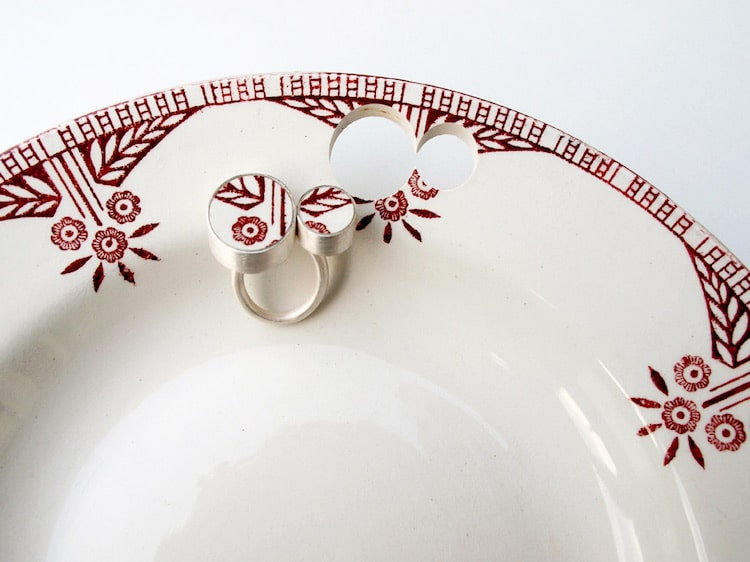 Artist Transforms Antique Ceramics Into Beautiful Pieces of Jewelry