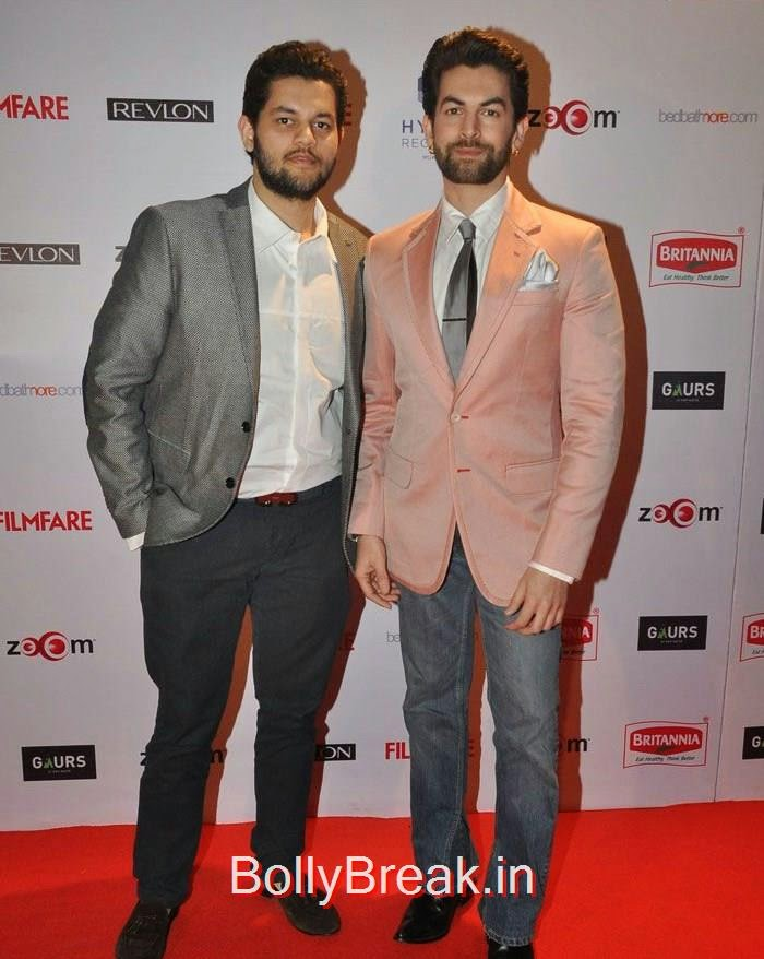 Naman Nitin Mukesh, Neil Nitin Mukesh, 60th Britannia Filmfare Awards pre-awards Party 2015 Red Carpet Pics