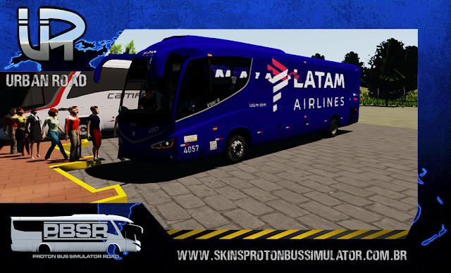 Skin Proton Bus Simulator Road - Irizar I8 Volvo B410R LATAM Airlines