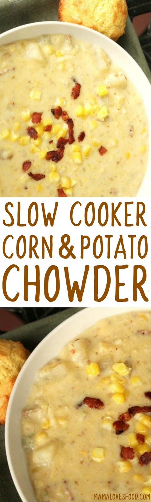 Easy recipe for chowder with potatoes and corn