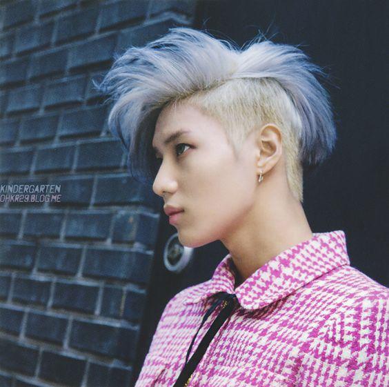 shinee taemin purple with blonde haircolor