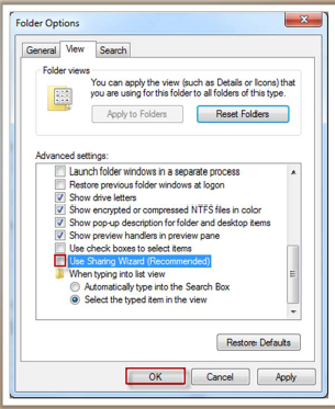 disable file sharing