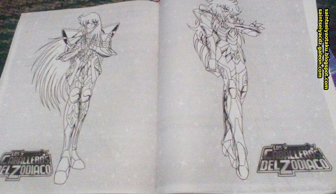 Cuadernos Para Colorear Caballeros Del Zodiaco No Oficiales Saint