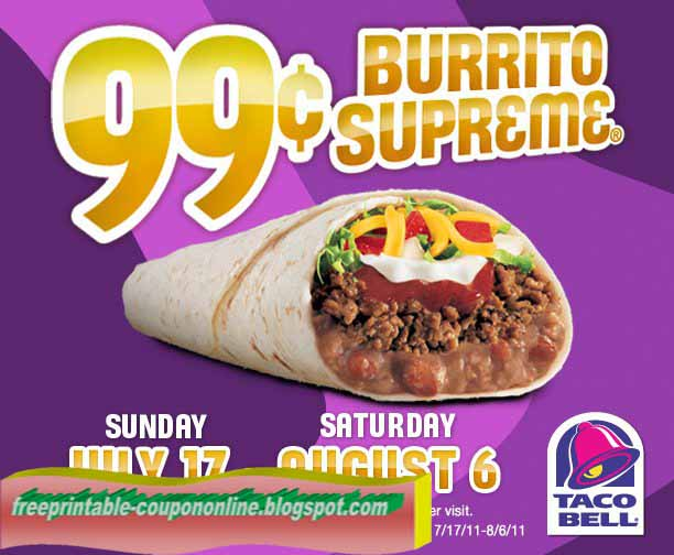 taco bell coupon september 2019