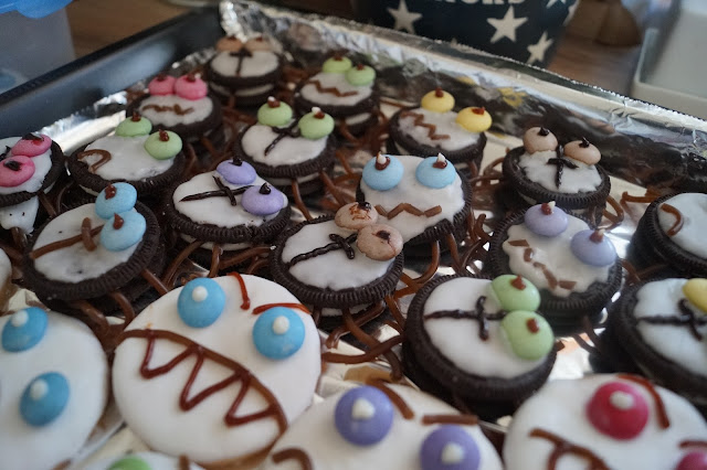 halloween spinnen kekse