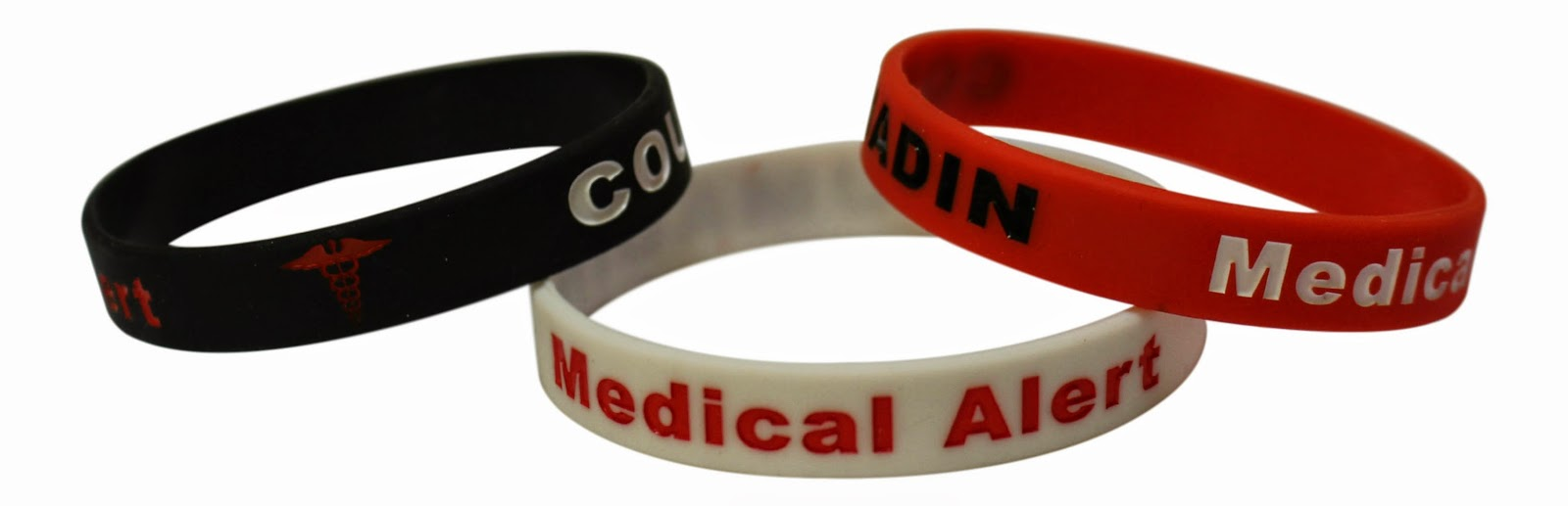 I Received The Opportunity To Review A Set Of 3 Coumadin Bracelets Medical Alert Silicone Wristbands Was So Impressed With Idea Wearing Something