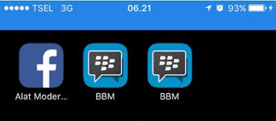 Cara Pasang 2 Aplikasi BBM di iPhone iOS 10 Tanpa Jailbreak