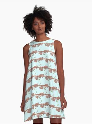 Sloth Pattern Dress