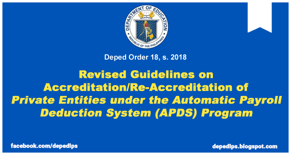 Revised Guidelines on Accreditation/Re-Accreditation of Private Entities under the Automatic Payroll Deduction System (APDS) Program