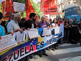 Grupos argentinos encabezan movilización en apoyo a Venezuela