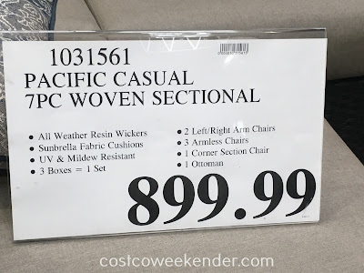 Deal for the Pacific Casual 7pc Woven Seating Group at Costco