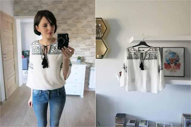 Haftowana etniczna bluzka | Zaful | Ethnic embroidered blouse