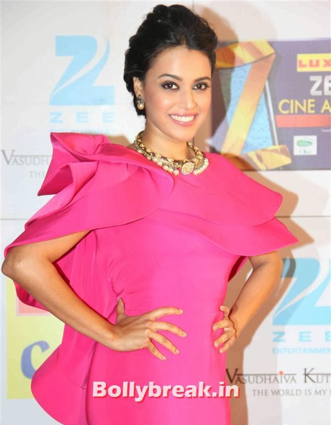 Swara Bhaskar, Zee Cine Awards 2014 Red Carpet Pics