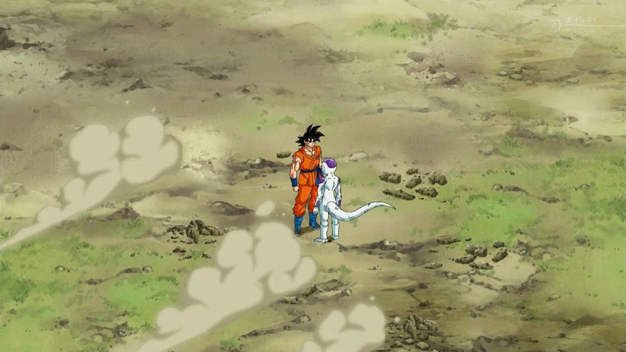 Goku and Frieza in a Mexican standoff
