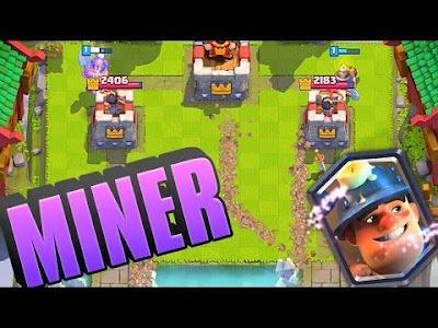 Cara Mudah Mendapatkan Kartu Legendary Card Miner Gratis, Cara Mendapatkan Miner Pada Arena 4, Cara Mendapatkan Miner Dari Chest Clash Royale.