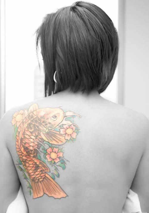 gold koi fish tattoos koi balığı dövmeleri