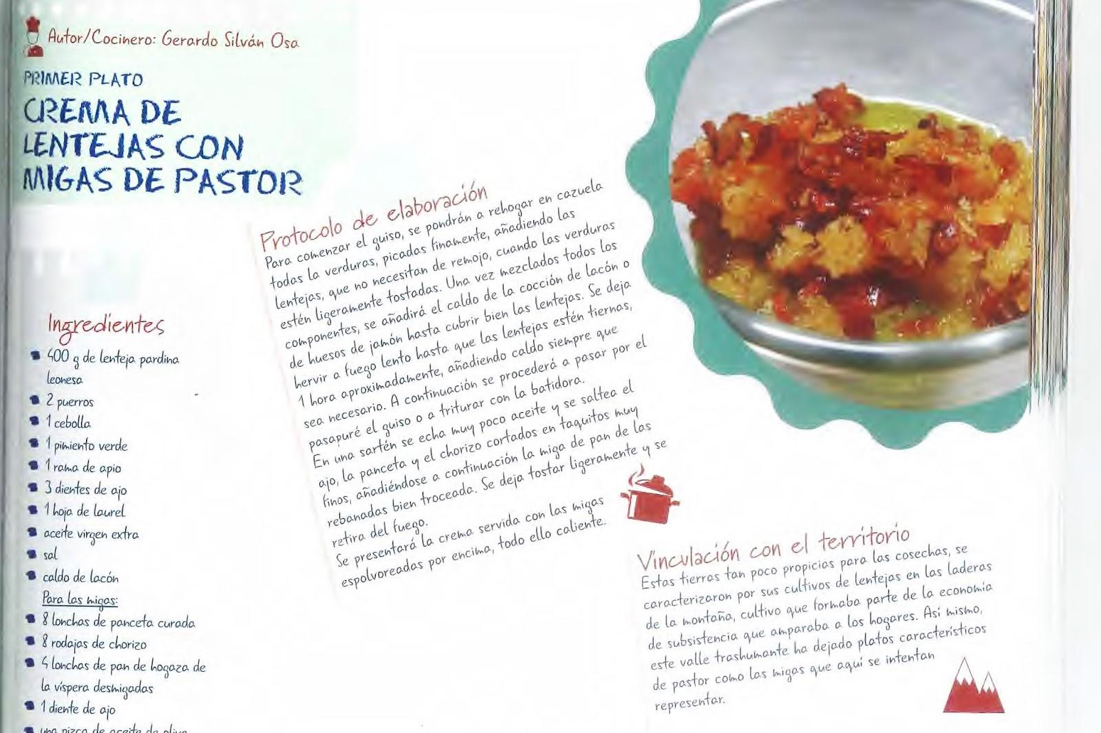 """El libro """"Recetas de la Biosfera"""" recoge una selección de platos ..."""