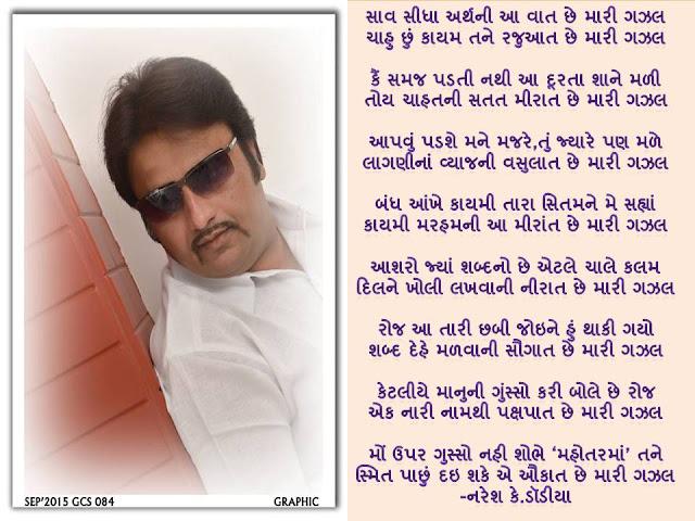 Saav Sidha Arth Ni Aa Vaat Che Mari Gazal Gujarati Gazal By Naresh K. Dodia