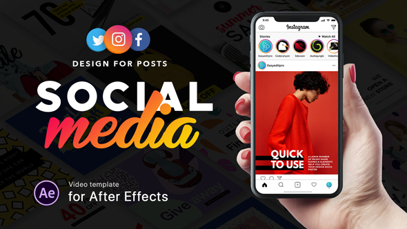 590-332 Social Media - Design for Posts Videohive - Free After Effects Templates download
