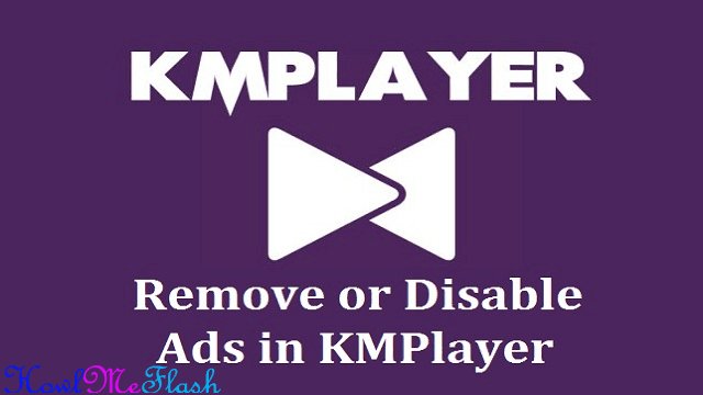 disable side panel Ads in KMPlayer