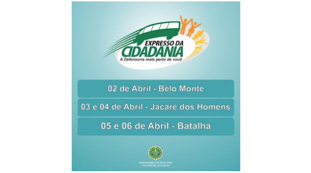 Cidades de Belo Monte, Jacaré dos Homens e Batalha  recebem serviços do Expresso da Cidadania