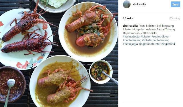 Makan Lobster di Pantai Timang Jogja