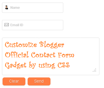 Customise Blogger Official Contact Form Gadget by using Dynamic CSS