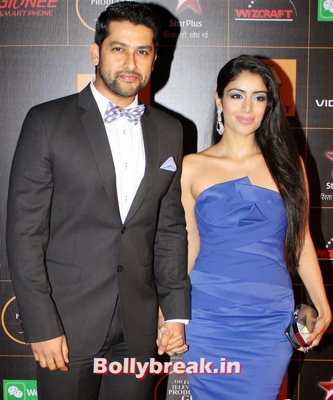 Aftab Shivdasani & Nin Dusanj, Star Guild Awards 2014 Pics