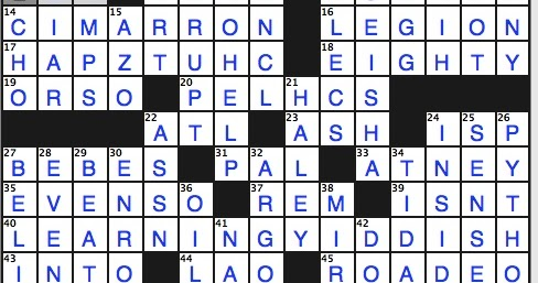 Rex Parker Does the NYT Crossword Puzzle: Title on certain ...