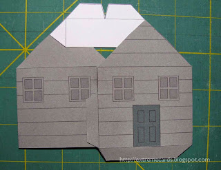pop up house roof assembly
