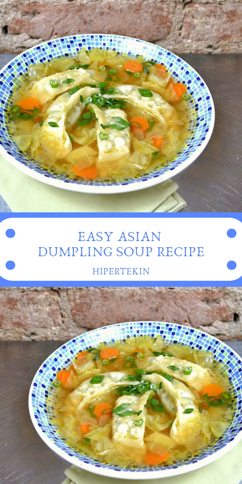 EASY ASIAN DUMPLING SOUP RECIPE