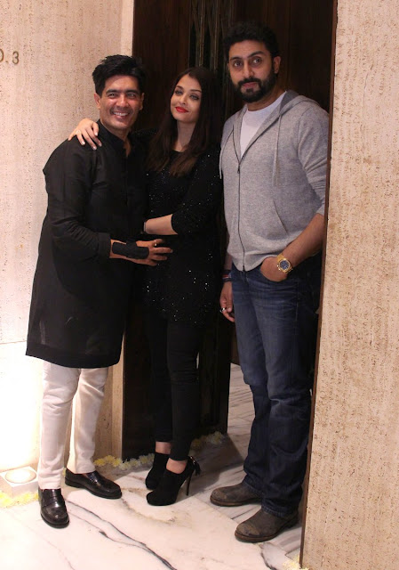 Aishawarya and Abhishek at Manish Malhotra Birthday Bash