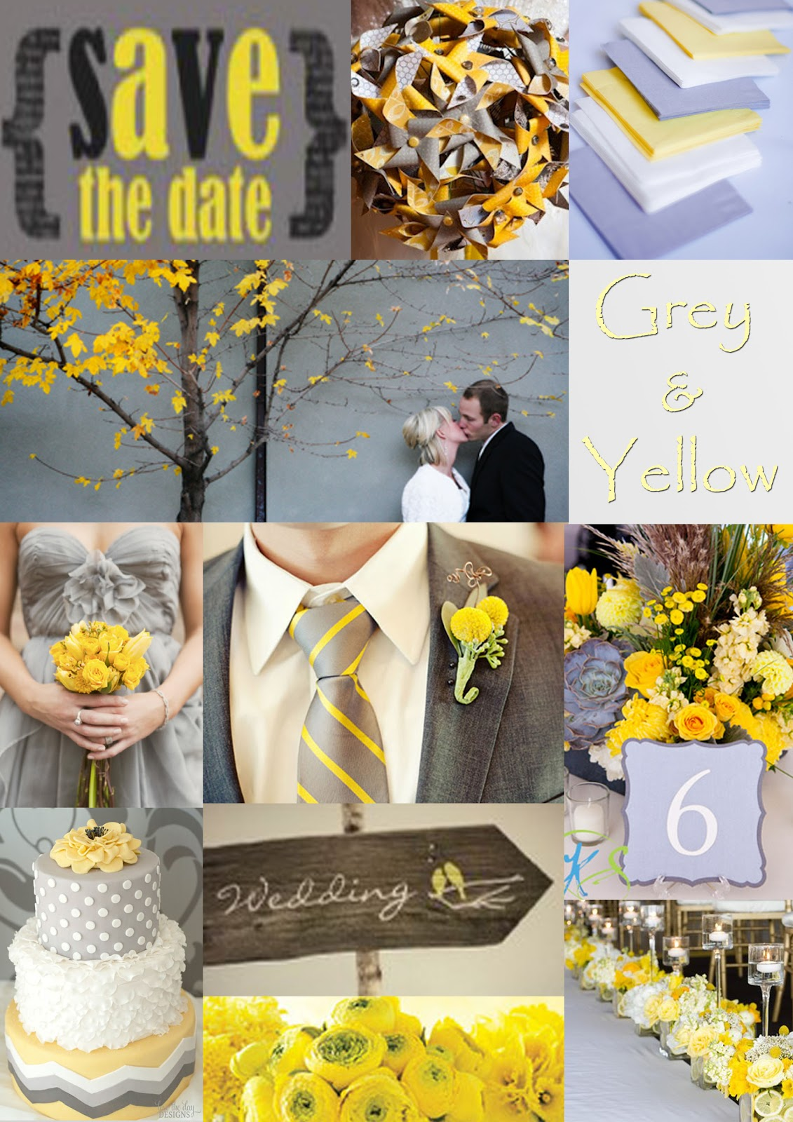 wedding ideas yellow and gray wedding ideas gray and yellow wedding ideas 28367