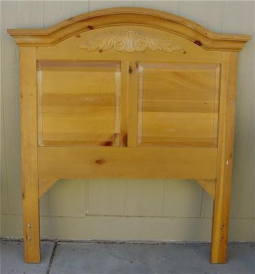 Bett Twin Single Pine Headboard